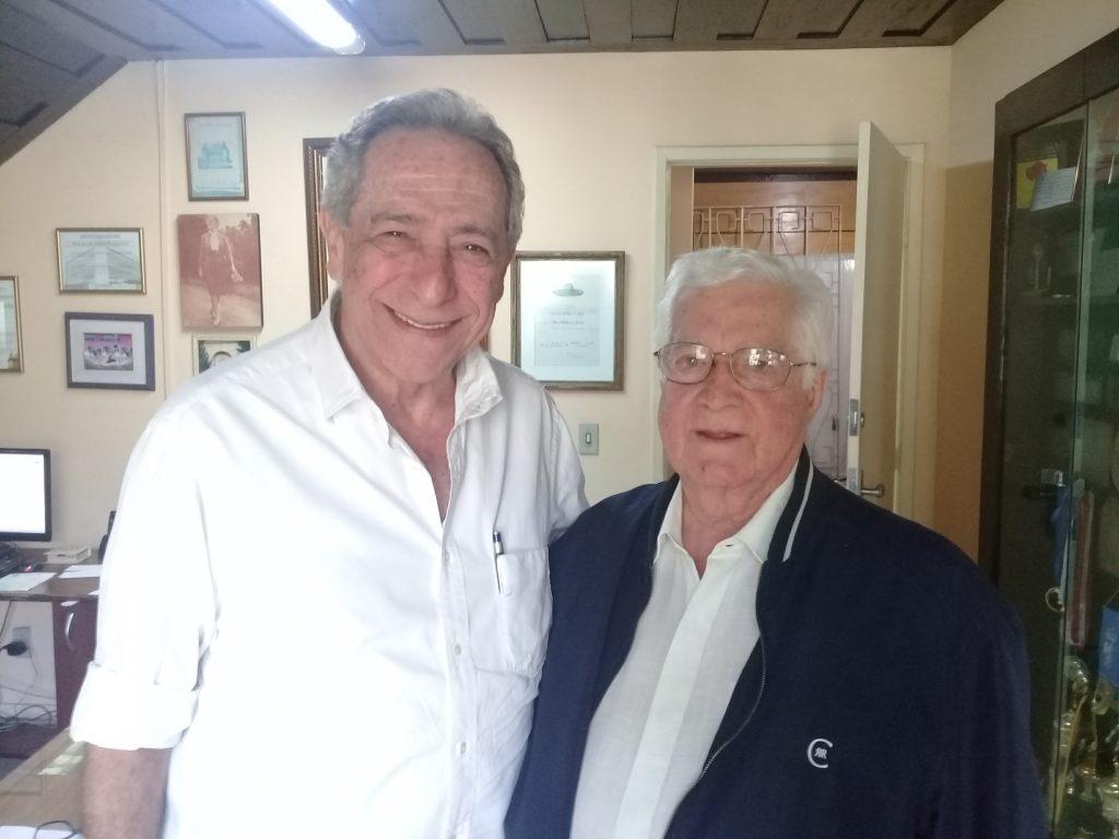 Secdretário de Ciência e Tecnoclogia, José Seba visita o presidente da Pestalozzi, José Raymundo Martins Romo